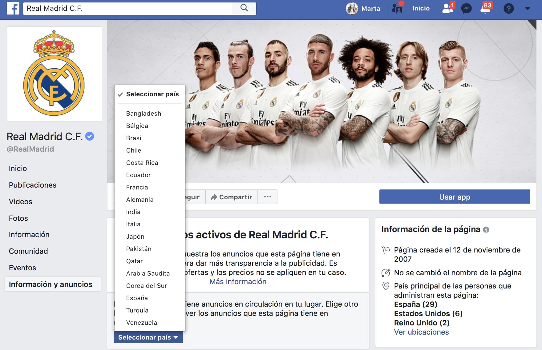 Países en los que está haciendo publicidad en Real Madrid f720f245fcd5f